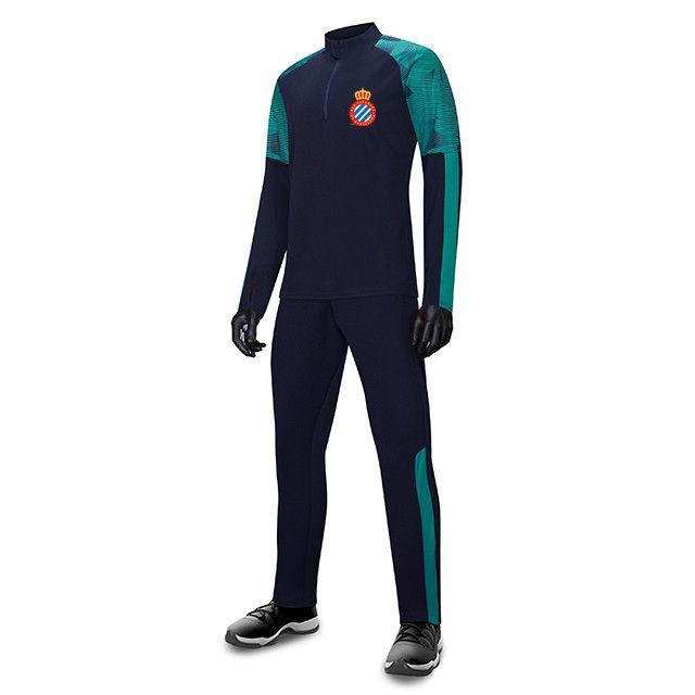 RCD Espanyol FC Uomo Bambini all'ingrosso tuta sportiva di calcio di calcio Imposta Giacca manica lunga preparazione invernale caldo Sportswear