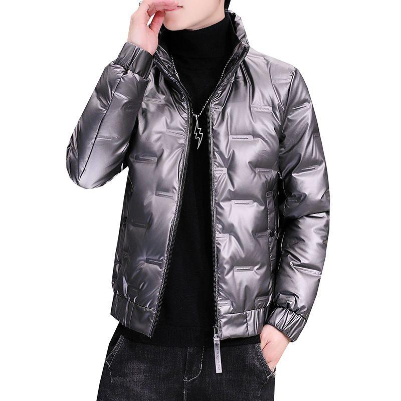 Aşağı Parkas Ceket Erkek Kalın Sıcak Kar Parka Palto WINDBREAKER Kapşonlu Parkas Isınma Ördek Kış Ceket Erkekler Beyaz