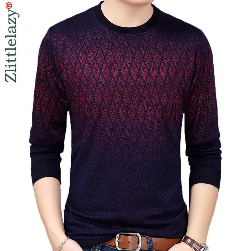 Brand New Hot Повседневный Social Argyle пуловер Мужчины свитер рубашка Джерси Одежда Прицепные Свитера Мужская мода Мужской трикотаж 200922