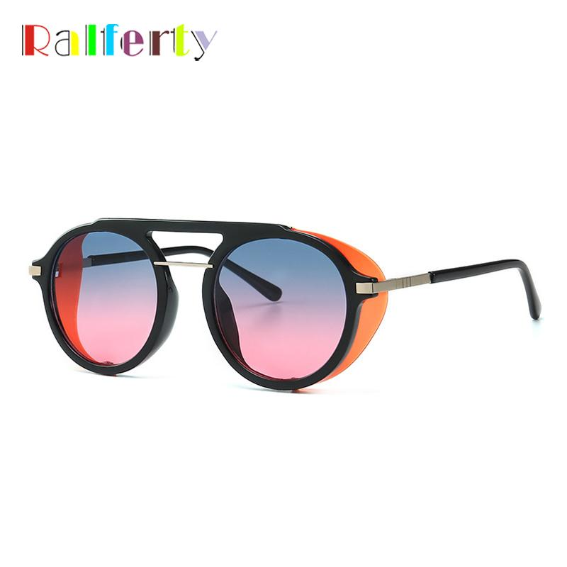 Ralferty Steampunk Sun Glasses Vintage Retro Shield Sunglasses Women Men Punk Goggles Shades C599