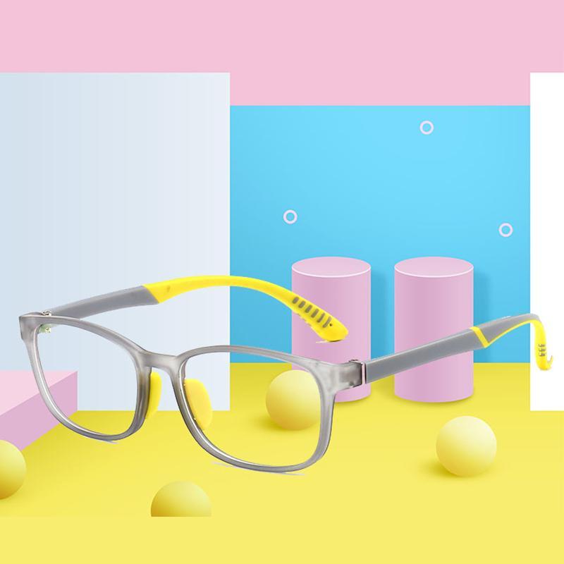 Plaza niños transparentes gafas gafas ópticas cuadradas Eyeware Light Boy Blue Anti Computer Frame Children UV400 Jllog