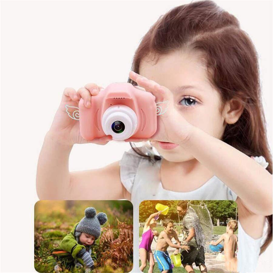 Мини камера 2 дюйма HD-экран зарядные цифровые дети мультфильм милые игрушки открытый фотография реквизит для ребенка подарок на день рождения