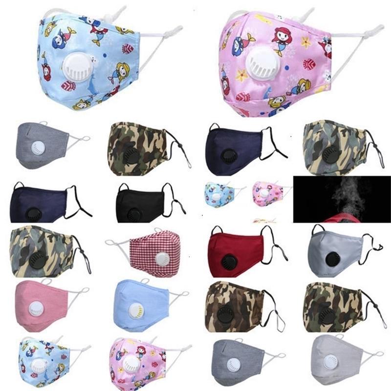 Lavable réutilisable respiration avec masques Valve soie visage glace PM2,5 de protection Noir Recycle Masque Designer Gga3303 # aq627 joho546