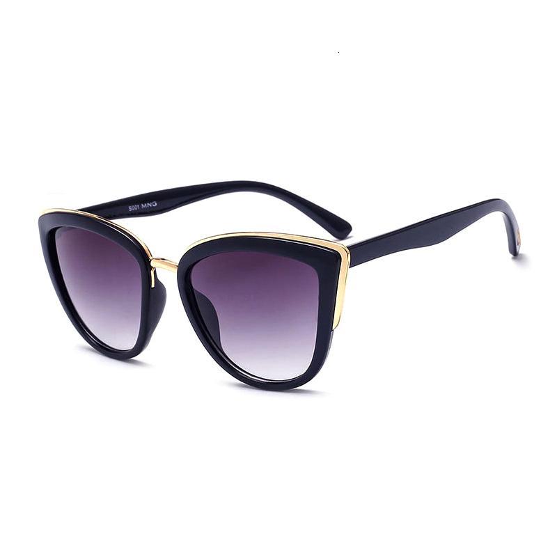 Keepioneer Katzenaugen-Sonnenbrille Frauen Acetate Cateye Sonnenbrillen Maxi-Marke Designer Shades Female Luxus Gradient Brillen Uv