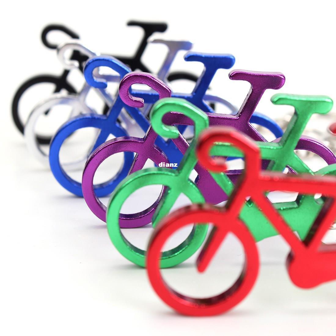 Mode chaud nouveauté vélo vélo Keychain Porte-bouteille de vin bière ouvre outil 6 couleurs