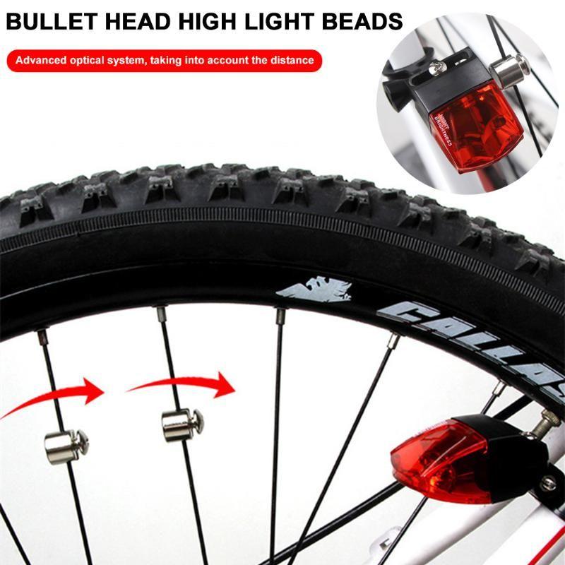Cola de la bicicleta de las luces de alto brillo autoalimentado IPX4 impermeables traseras Luces de bicicleta