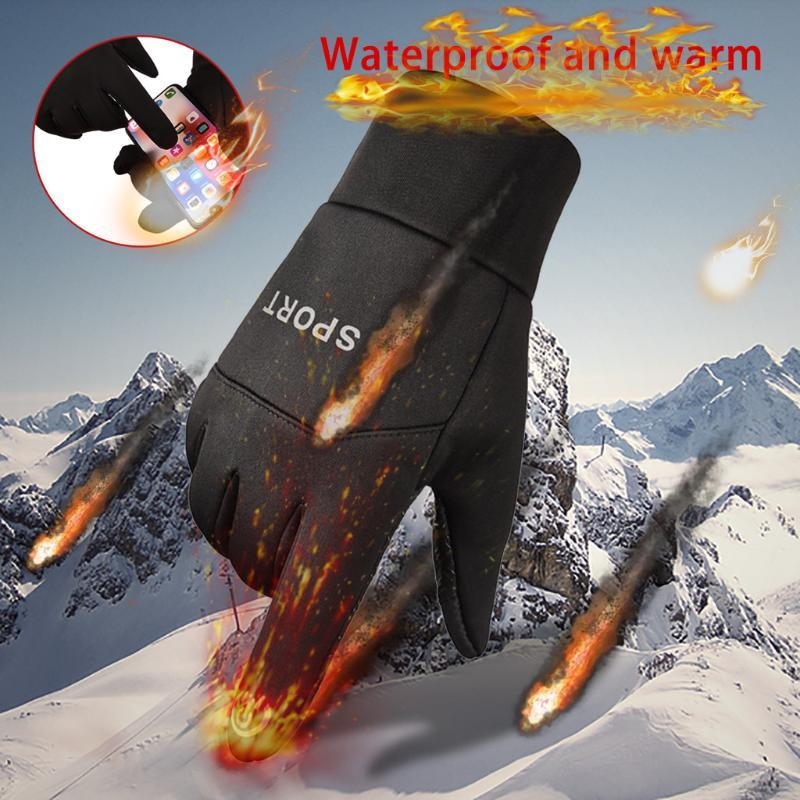 2020 Men Gloves Winter Fashion Driving Keep Warm Tactical Full Fingers Men'S Gloves Sprots Windproof Mittens For Men