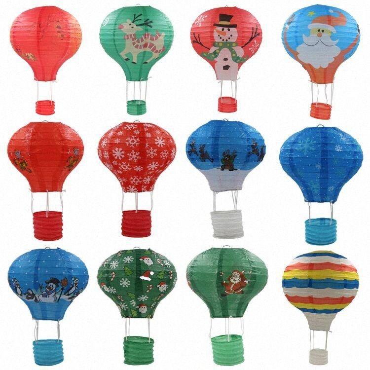 25cm 30cm 35cm 40cm Rainbow Hot Air Balloon Paper Lantern Christmas Halloween Kids Birthday Wedding Decoration Party Supplies ZaU2#