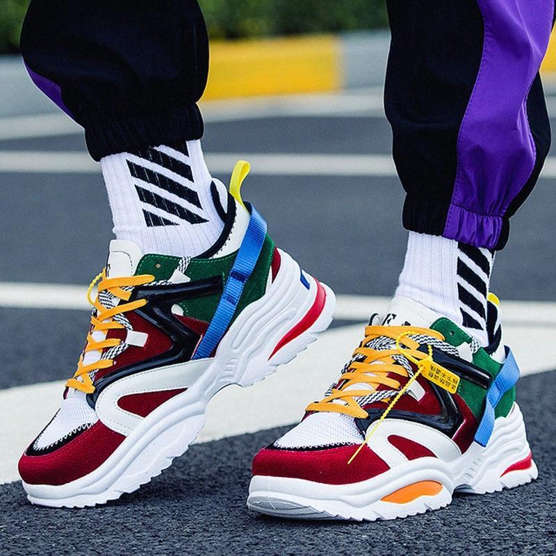 2019 Yeni Kanye West 700 Erkek Günlük Ayakkabılar INS Baba Vintage Baba Süper Hafif Nefes Erkek Zapatillas Hombre Tenis Masculino Sl4g #