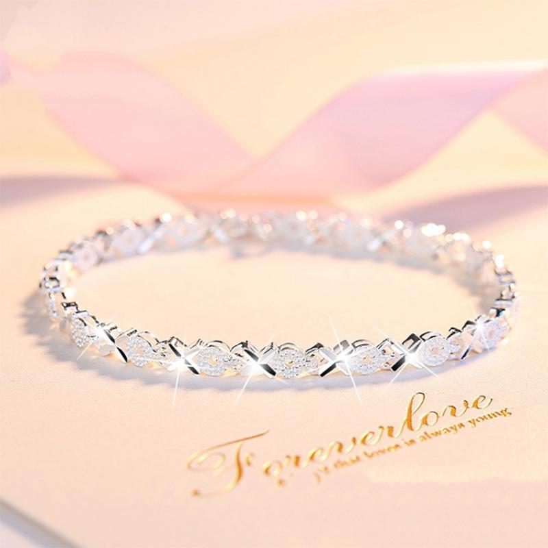 Браслет из сердца к сердцу 2020 новый серебряный браслет S925 женский простой творческий четырехлистник клевера браслет женщина ювелирные изделия