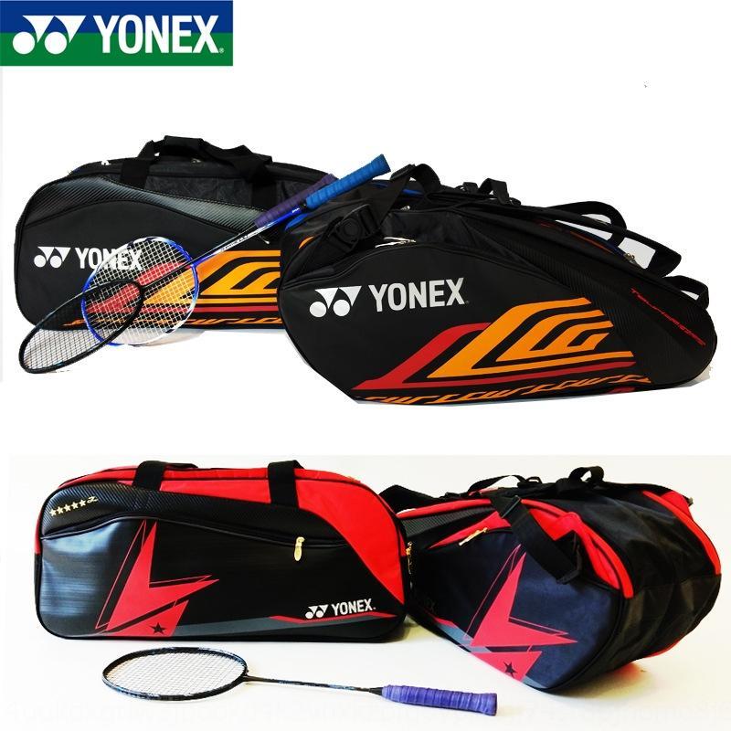 F6zGl Новый корейский стиль бадминтонная ракетка 3/6 ракетка сумка мужской и бадминтон рюкзак Fur Ball квадратный мешок большой емкости рюкзака женщин