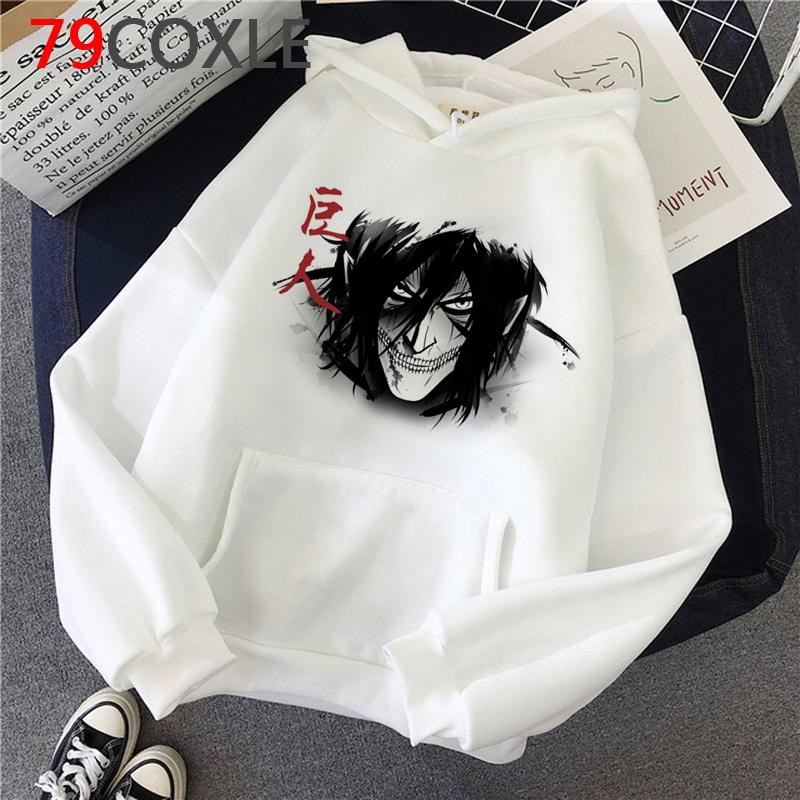 Japanese Anime Attack on Titan Winter Autumn Warm Harajuku Eren Graphic Hoody Levi hoodies men Oversized harajuku Ulzzang sweatshirts