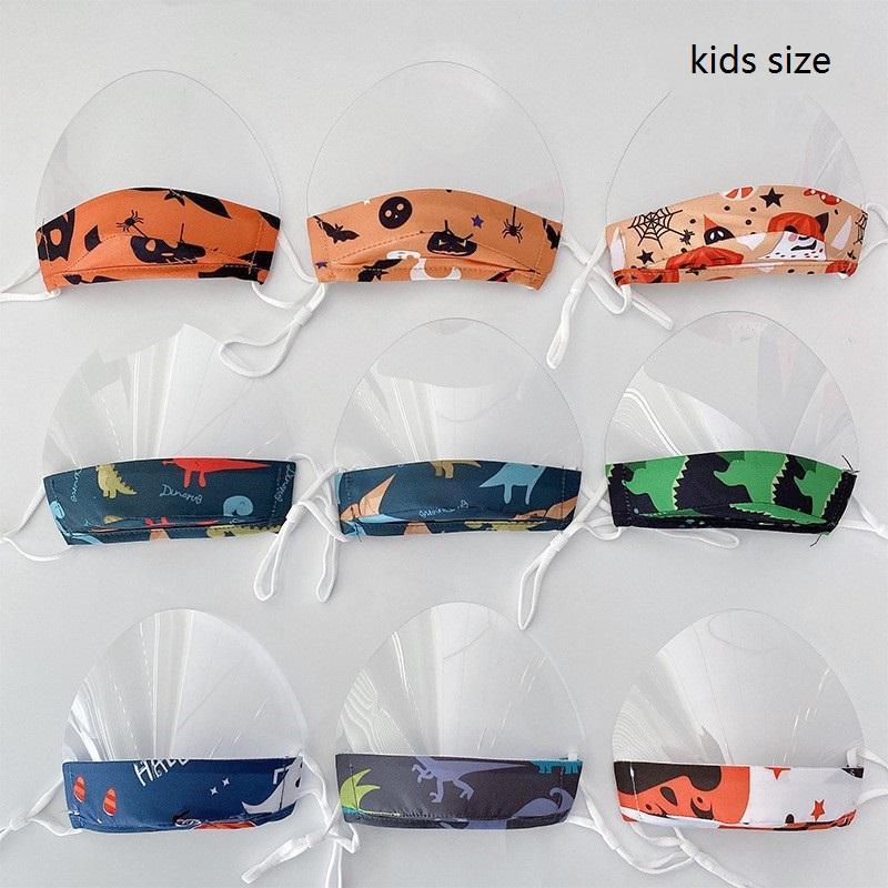 Máscaras de Halloween transparente Escudo de algodón + TPU confortable usar máscaras para adultos para niños de Halloween anti-escupir boca cara cubierta
