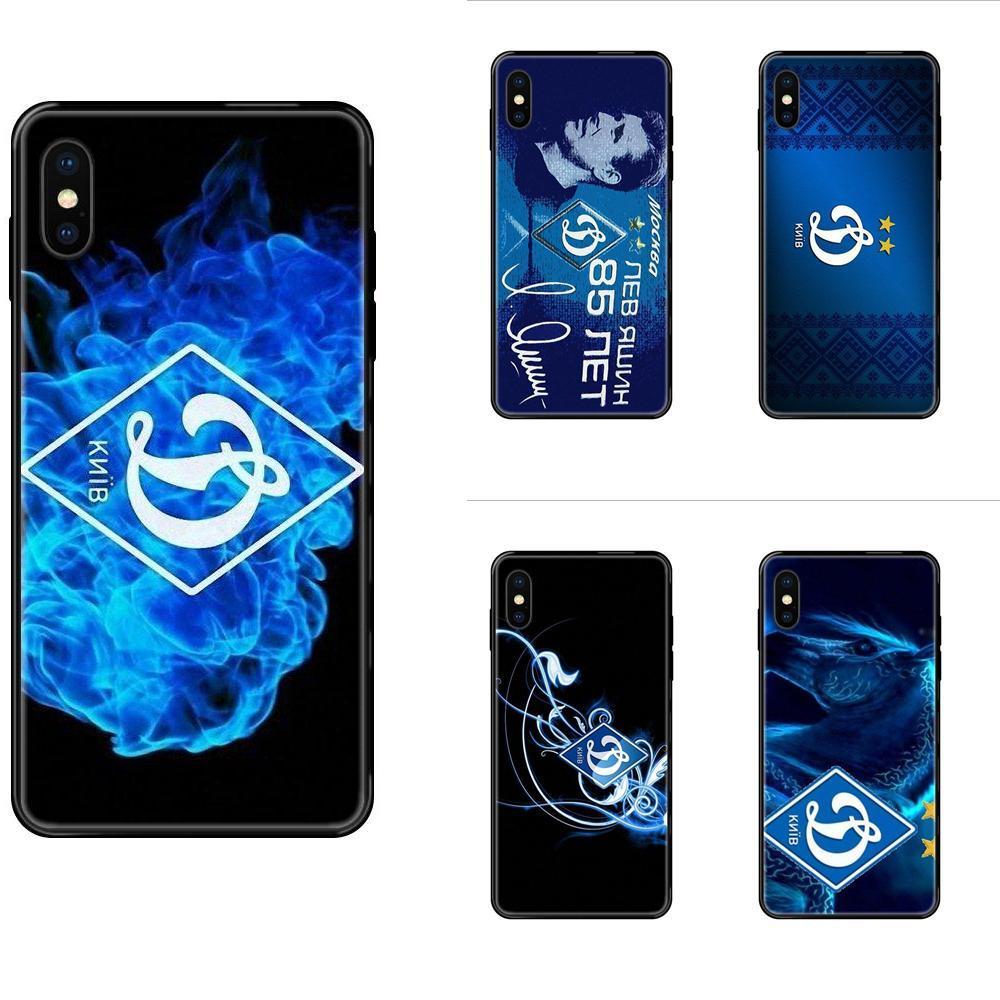 Para Apple iPhone 11 12 Pro 5 5S SE 5C 6 6S 7 8 X 10 XR XS Além disso Max TPU Phone Case Capa Skin Dynamo Kyiv Logo
