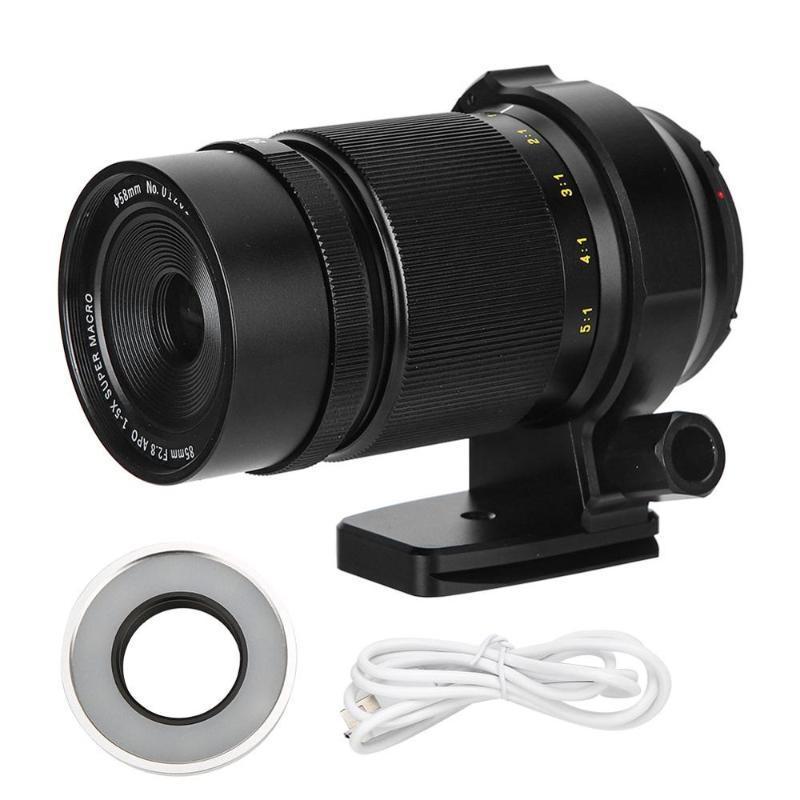 ZHONGYI 85 milímetros F2.8 liga de alumínio preto Focagem Manual 1X-5X Grande Lens Aperture Super Macro para Canon EOS-M Mount Mirrorless Ca