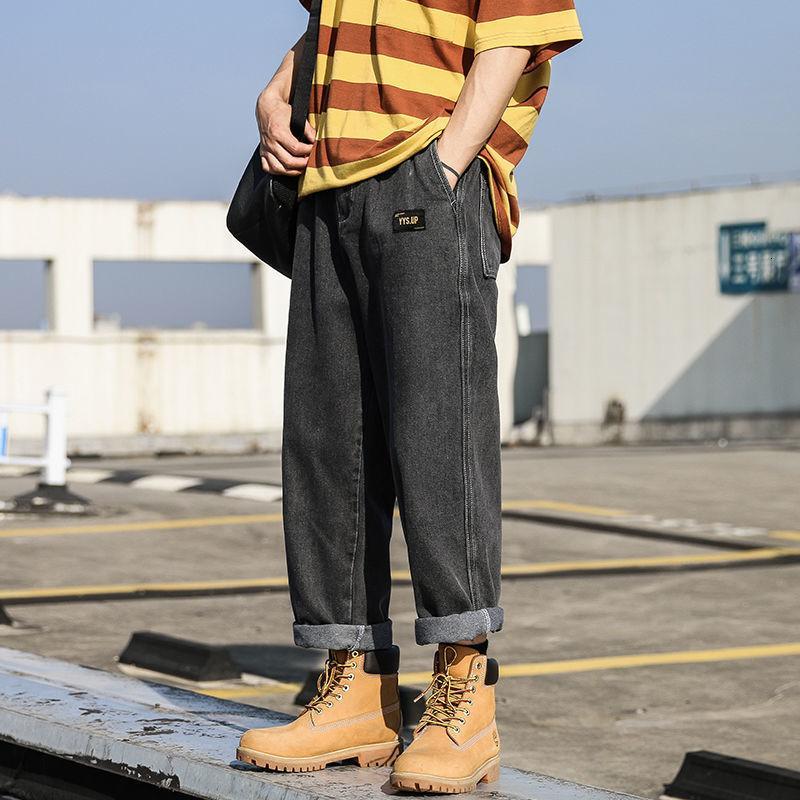 Hip Hop Erkekler boy Casual Jeans 2020 Sonbahar Yeni Kore Pantolon Kadın Moda Hip Hop Giyim Erkek Denim Pantolon