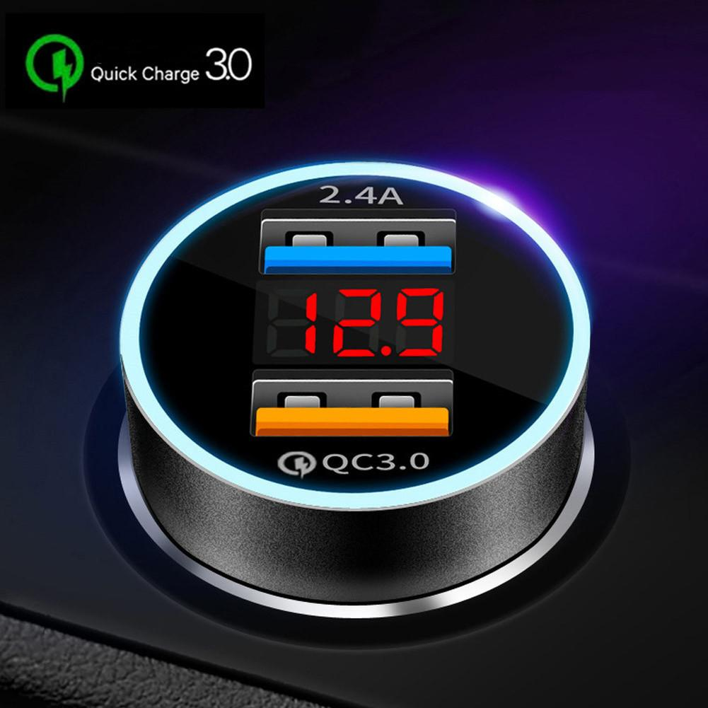 Lot* Dual USB Car Charger for iPhone XR XS Max Xiaomi Samsung Quick Charge 3.0 Fast Charging Car-Charger Phone Charger Adapter in car