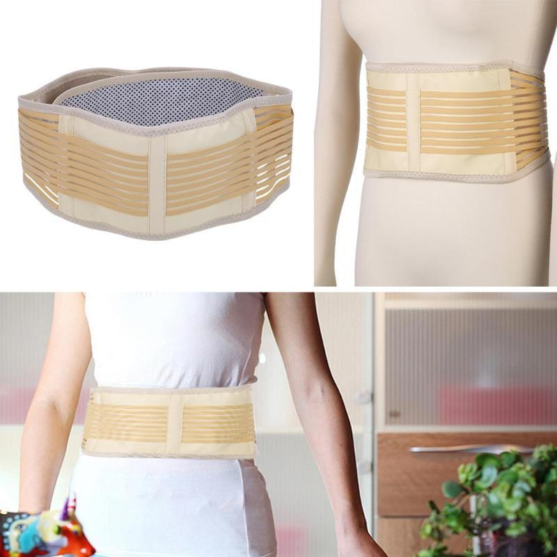 Adjustable Self-heating Magnetic Therapy Waist Support Brace Double Pull Magnetic Lumbar Brace Lower Back Support Belt