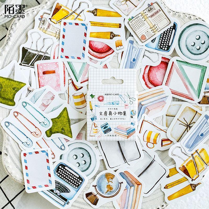 Vara Adesivos Stationery Washi artigo Etiqueta Adesivos Kawaii Scrapbooking decorativa Coleção Estudo 45pcs Album Tz192 Diário yojPO