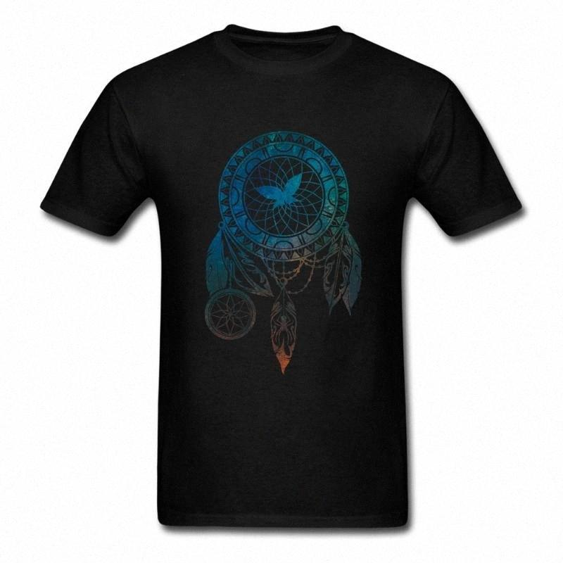 Traumfänger T-Shirt Sommer Herren T-Shirt Kurzarm 100% Baumwolle O-Hals-T-Shirt für Männer OYQx #