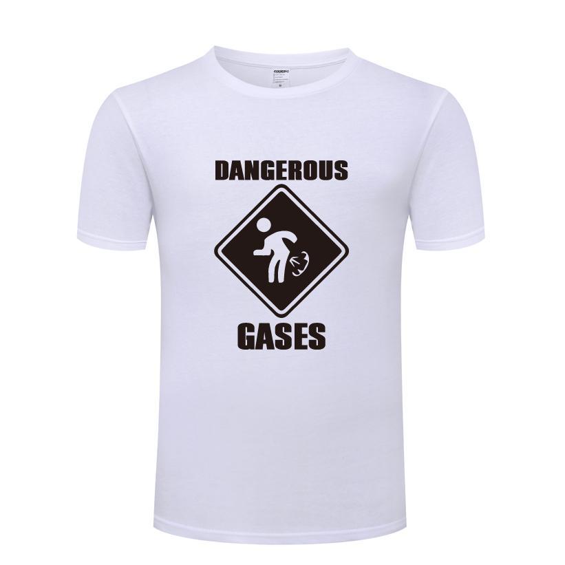 Los gases peligrosos divertido Pedo creativa de la novedad para hombre camiseta de los hombres camiseta 2018 nuevos de la manga corta de algodón de cuello Casual O Camiseta primer golpe