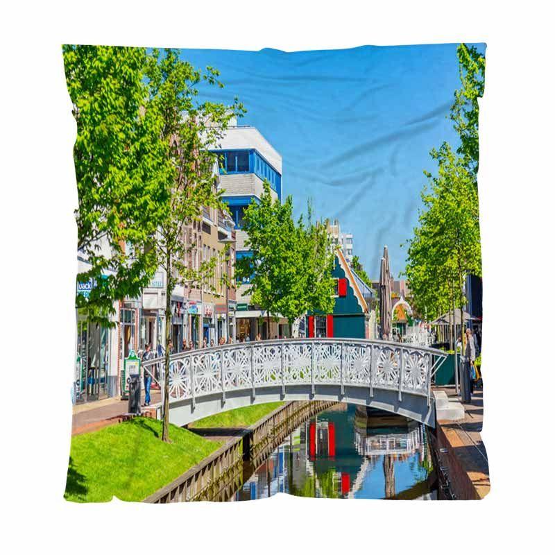 Início Quarto de luxo Bed Blanket O Shopping Street No Centro De Zaandam All Season flanela cobertor perfeito para Couch sofá ou cama