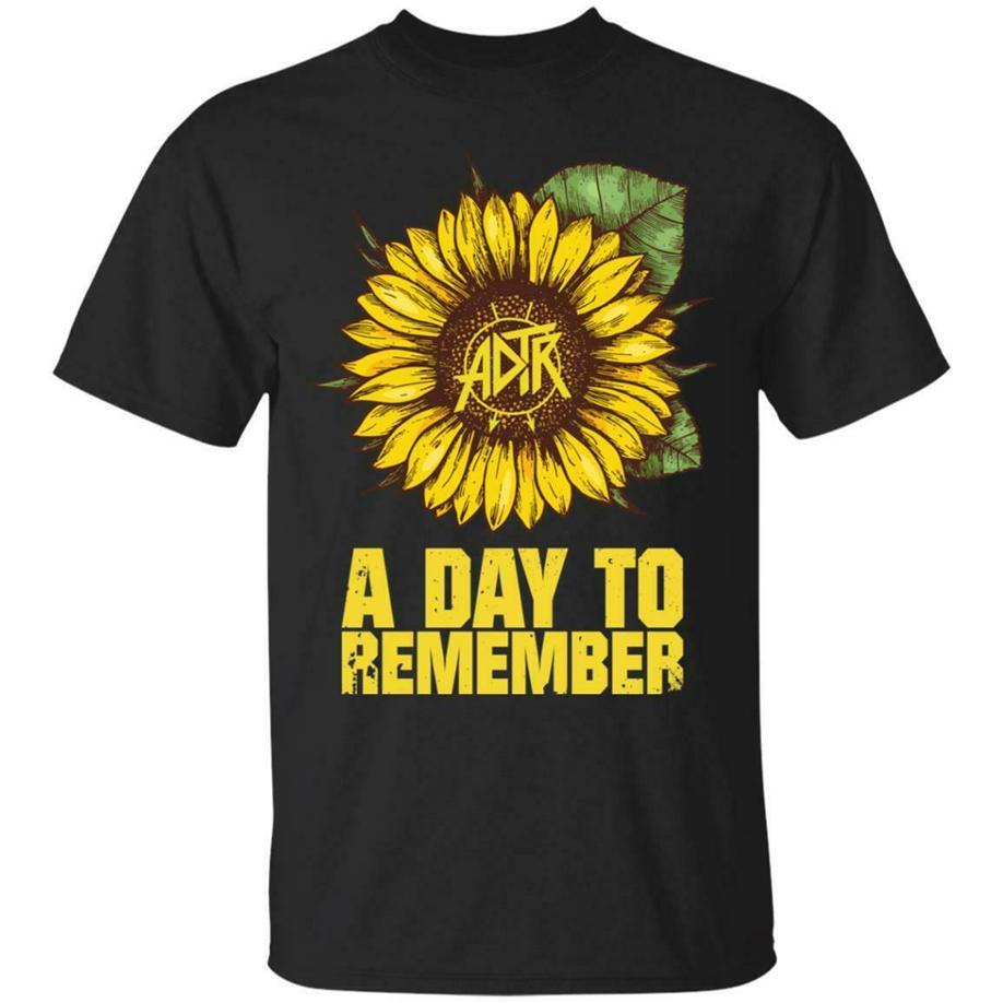 Adtr A Day To Remember shirt S-3XL Homens preto feito de algodão Em Usa Moda clássico do girassol Camiseta