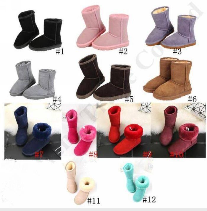 nuova Kids Classic in Australia Snow Boots Designer ragazzi delle ragazze inverno Furry Boots Unisex corto metà polpaccio Boot Bambino caldi calza il formato 22-35 # 676
