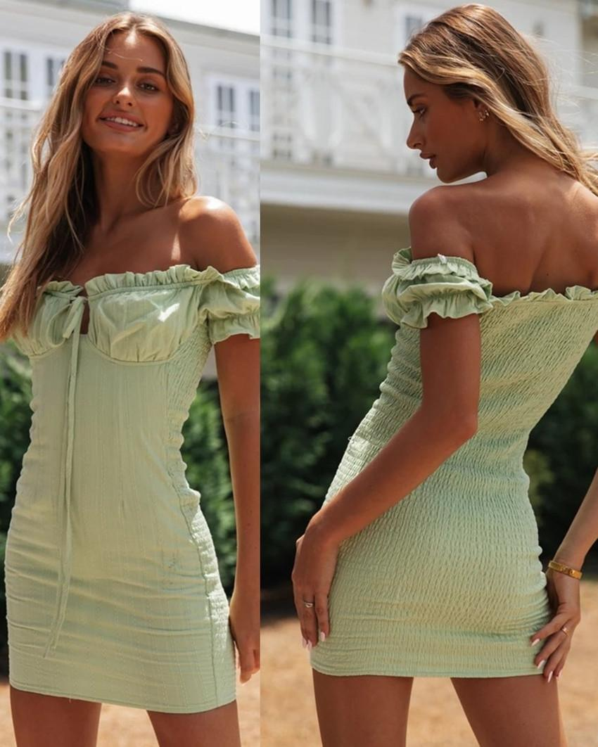 RYjx1 2020 sexy d'une ligne col GFr forme mince à lacets-amincissent 2020 la mode des femmes collier de femmes sexy lacets mode robe dressGFroa un l