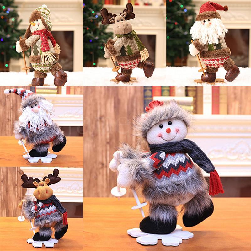 32 * 17 cm Feliz Natal decoração brinquedo desktop boneco de neve Papai Noel Elk Xmas brinquedos ornamentos de ano novo criança presente da971