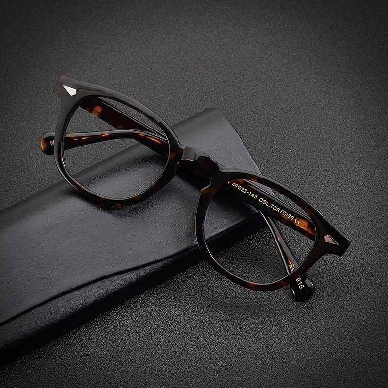 Gafas de montura de acetato hecho a mano de la vendimia mujeres de los hombres de la prescripción del marco miopía lentes ópticas de alta calidad de Eyewear