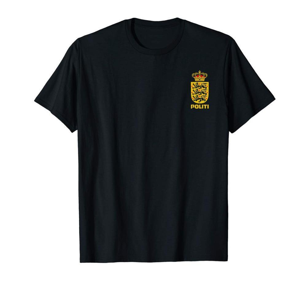 Датская полиция Politi T-Shirt Double Side 2019 лето новый мужской моды Бренды Novetly Printed Summer Прохладный Тис Топы Рубахи