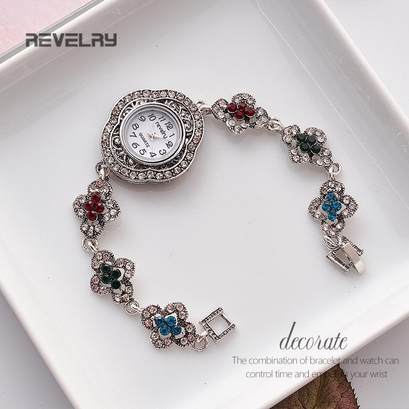 Relojes de lujo pulsera simple chica retro de las mujeres del reloj retro del reloj de las señoras del reloj de cuarzo Marca Relogio Femenino