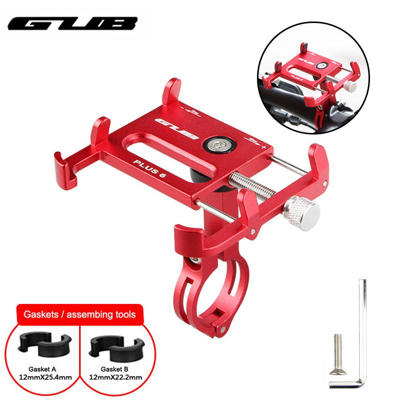 GUB Universal Bike Phone holder 3.5-7.15 inch Aluminum Motorcycle GPS Smartphone Support Anti-fall MTB Bicycle Phone Mount Stand