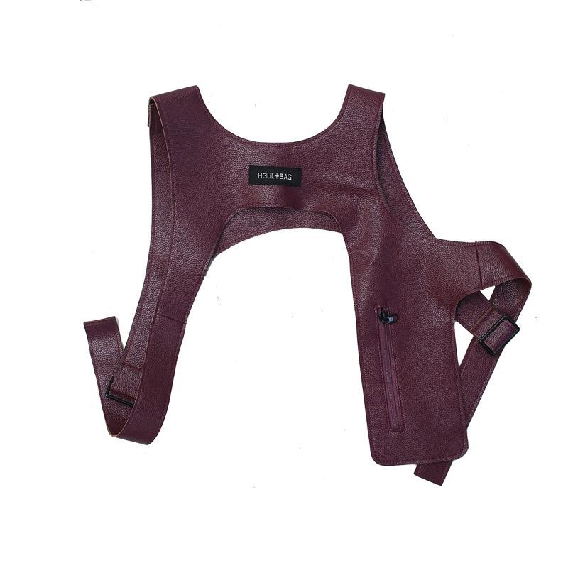 2020 black chest rig Rock Shoulder chest Vest for Men black Cool Streetwear bag Tactical Light Detachable Vest Accessory Black