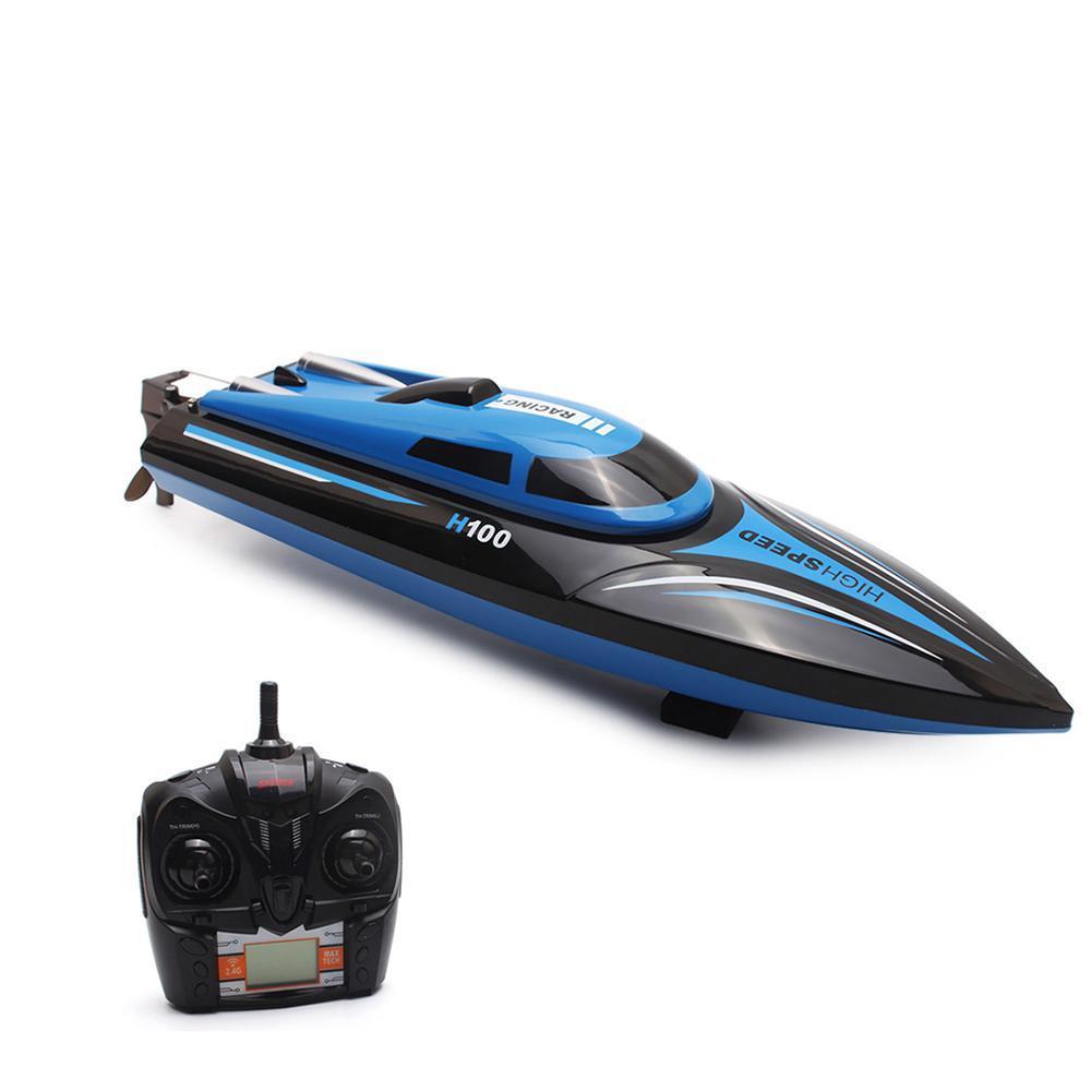 TK H100 2.4G 4 Kanäle Fernbedienung Elektrische Speedboat Spielzeug, Highspeed 30km / h, LCD-Bildschirm, Weihnachtskinder-Geburtstagsjungen-Geschenk, 2-1