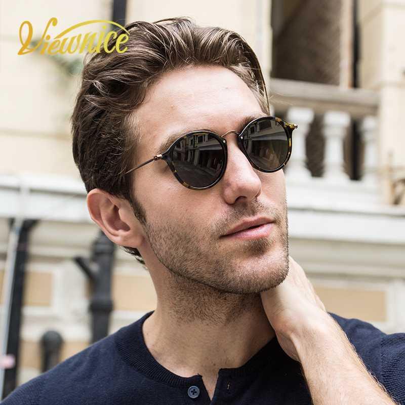 47 Top Classic Popular Women Luxury Polaroid Lens Calidad Vintage Gafas de sol Marco Marco redondo Mens Designer Viewnice Acetate Vuhae KLFRM