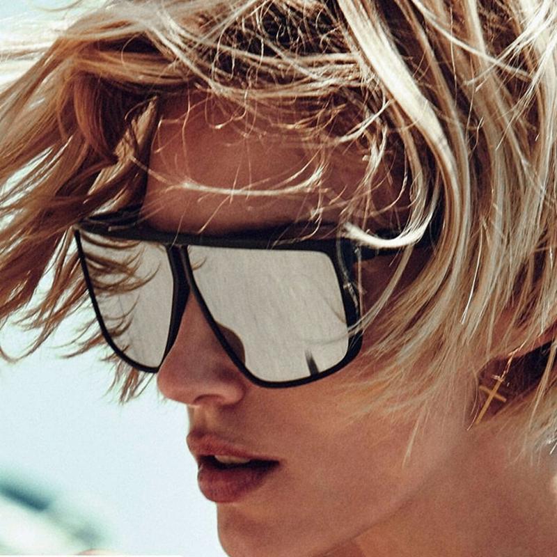 2020 DPZ Trendy neue Frau klassische große Rahmen-Sonnenbrille Quadrat retro Männer Allgleiches Fahrweise UV400 Sonnenbrille