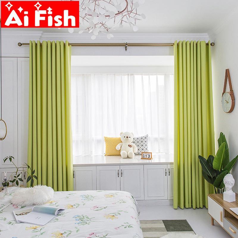 كاندي الحديثة الخضراء التجهيل الستائر المخملية مكفوفين لوحة أقمشة الستائر للستائر النافذة شير لغرفة الجلوس تنده MY244E