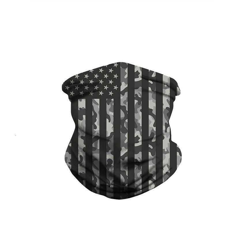 2020 60pcs Máscaras Impresso Scarve bandeira dos EUA Camuflagem Magia Outdoor Sports Headband Lenço Camo Ciclismo Cca12420
