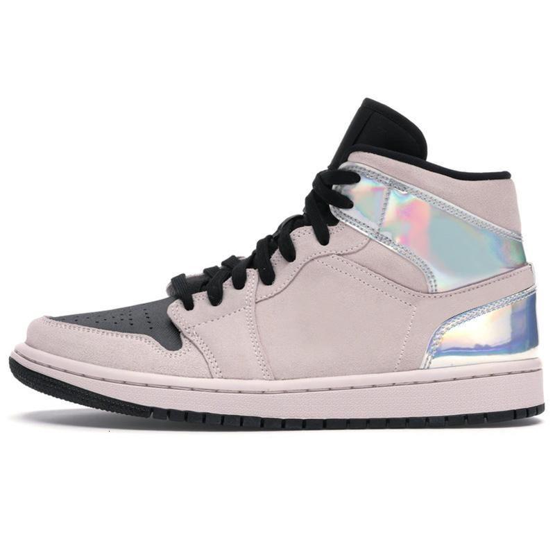 Lumière blanche Og Rose Smoke gris Décoloration Tie Dye Hommes Chaussures de basket-1s Phantom Scotts Backboard Sport espadrille