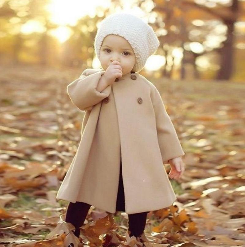 Cappotto Infant Toddler Solid Tench cappotti doppiopetto Ragazze Giacche manica lunga Outwears Boutique Abbigliamento bambino 4 colori DW4495
