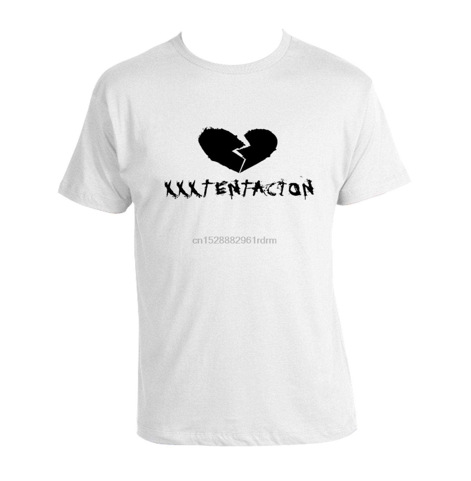 XXXTentacion T shirt Heartbreak RIP 100% cotone misto supera all'ingrosso Tee personalizzato ambientale stampato maglietta a buon mercato all'ingrosso