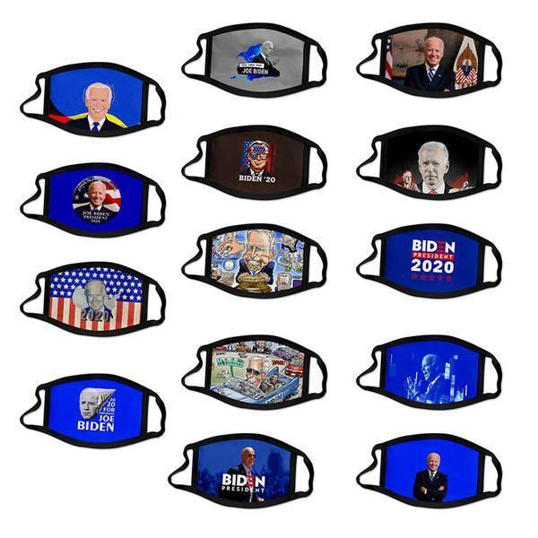 Elección de los EEUU Stock 2020 Trump algodón Máscara Keep America Gran Nuevamente Cosplay Biden Mascarillas diseñador del polvo anti contaminación Cúbrase la boca