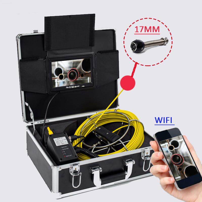 WI-FI Connection Support DVR Recording Video 7inch TFT LCD MNITOR 100m Cable Long Battery Portable Endoscope Inspection Camera