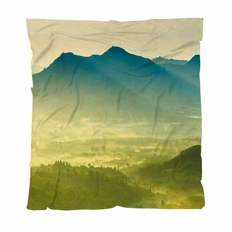 Miglior Coperta Quailty tiro coperta, bellissima alba Misty mattina montagne, morbida coperta multifunzionale confortevole