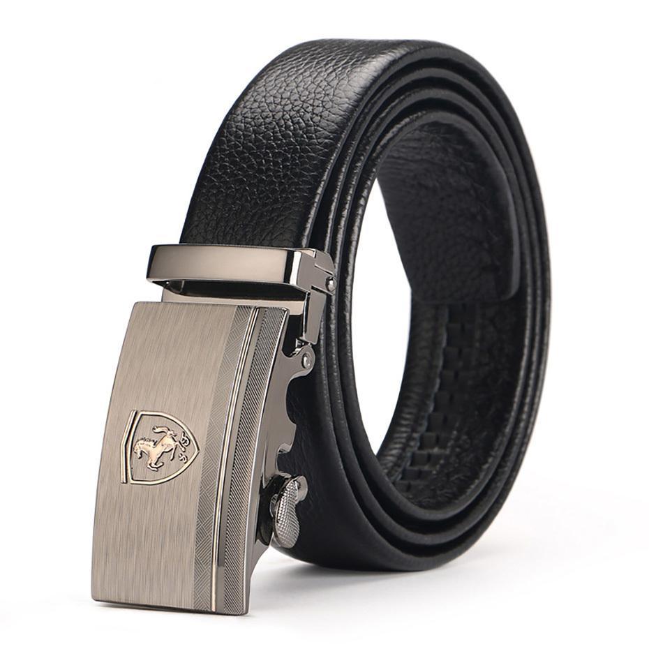 Cinturón de lujo Superman automática hebilla de cuero Musenge nuevo diseñador de alta calidad para hombres Cinturones Hombre