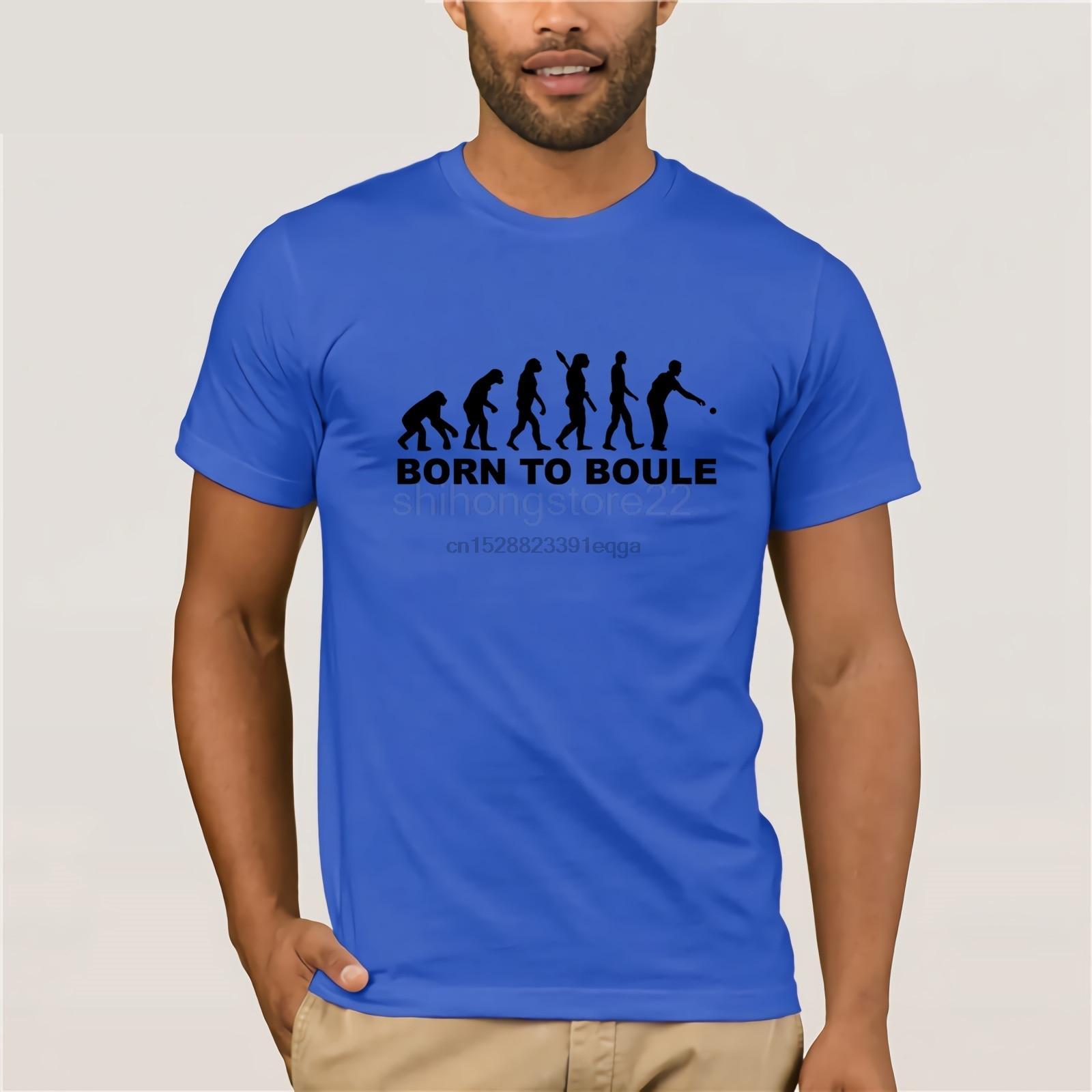Evolution de Petanque T-shirt personnalisé cadeau drôle de singe à l'homme Humour New T-shirts drôle Tops T New Tops drôles unisexe