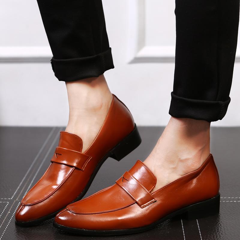 Vestido Brogue sapatos moda masculina sapatos de couro artesanais homens preguiçosos calçado partido do negócio clássico Escritório casamento hjm89