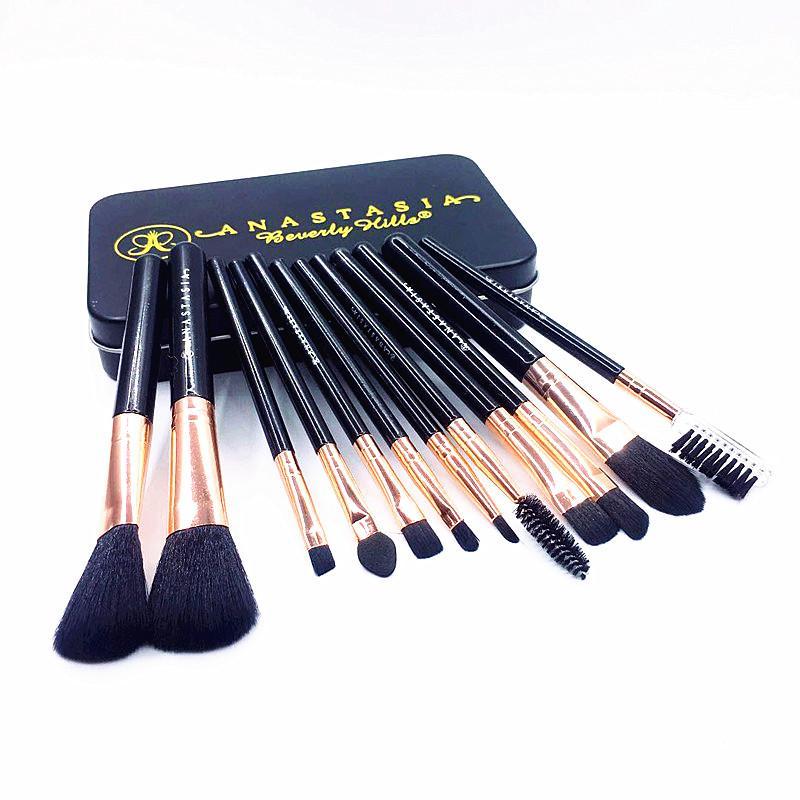 an @ stasia-m 12pcs ماكياج فرش ماكياجيم مؤسسة المكياج فرشاة مستحضرات التجميل brocha de maquillage set بواسطة dhl